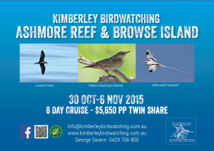 Ashmore Reef birdwatching cruise - 30 Oct to 6 Nov 2015.